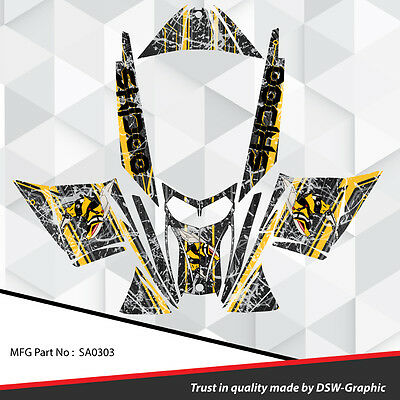 Sled Wrap Decal Sticker Graphics Kit For Ski-Doo Rev Mxz Snowmobile 03-07 Sa0303