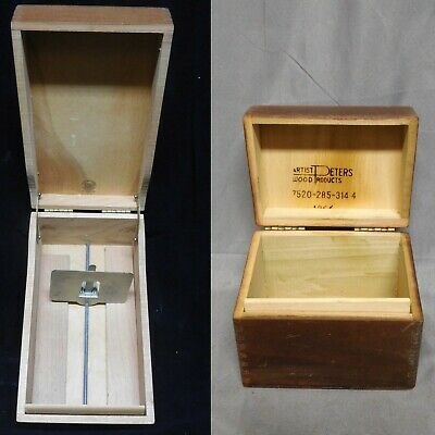 Artist Peters Wood Products * Lot Of 2  * Dovetail / Finger Joint * File Boxes