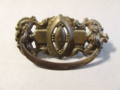 "Antique Vintage Drawer Pull Ornate Brass 3"" Spacing (Sd3  88)"
