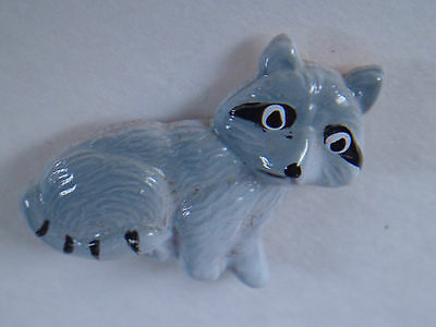 Miniature Handpainted Enamel Metal Raccoon Magnet ~ FREE SHIPPING