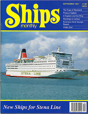 Ships Monthly Sept 1991 New Ships For Stena Line, Warships In Colour