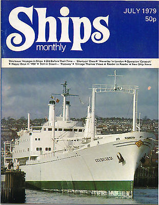 """Ships Monthly July 1979 Vintage Thames Views, Voyages In Ships, """"Portwey"""""""