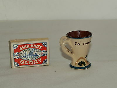 MINIATURE LONGPARK TORQUAY TWIN HANDLE TANKARD  2  inches high- Ca canny& flee..