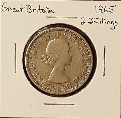 Great Britain Florin, Two Shillings, 1965