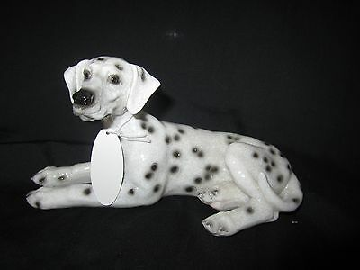 """Dalmatian dog model  figure laying pose new boxed approx 6"""" long x 3"""" high"""