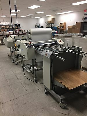 "Ledco High Speed 30"" Throroughbred laminating System with Feeder and Auto Cutter"