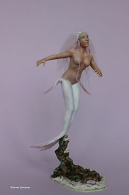 Crea, OOAK doll Mermaid, polymer clay sculpture, by Diana Genova