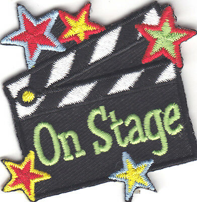 ON STAGE Iron On Patch Game Theater Stage & Screen