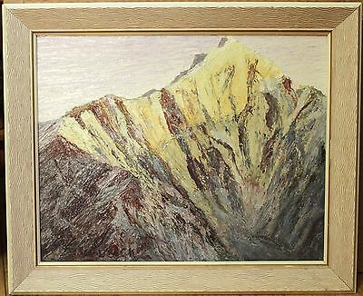 """Vintage Oil Painting - """"Mount Maxwell, Yukon"""" - Signed By Nicholas Susick"""
