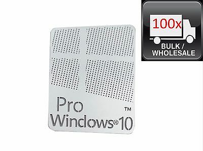 100X Windows 10 Pro Logo Metal Sticker for Computer/Laptop PC 17x22mm USA Seller