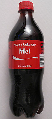 Rare Coca-Cola Share A Coke With MEL 20 oz Bottle EXPIRED, DISPLAY USE ONLY your