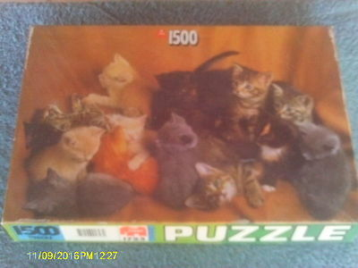 "1500 Piece Puzzle of Numerous Kittens of Various Colors 23.5"" x 35.5"""