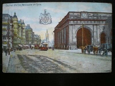 Post Card  Central Station Newcastle On Tyne 1900's