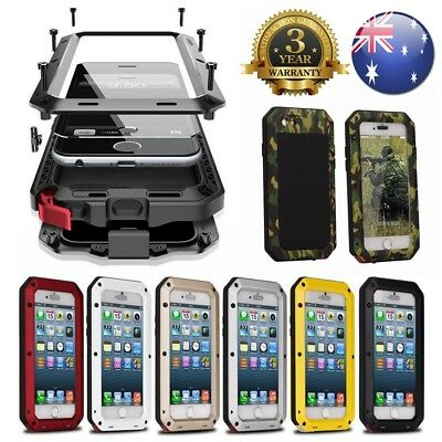 HEAVY DUTY Shock proof Bumper Metal Cover Case iPhone Samsung 5 6 7 8 9 10 XS +