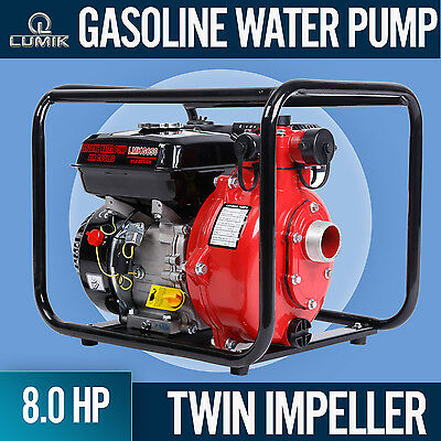 "NEW 8HP Petrol Water Pump Transfer  High Flow Irrigation Fire Fighting 1.5"" inch"