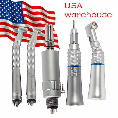 NSK Style Dental PANA AIR Push Button High / Low Speed Handpiece Kit 4 Holes AIM
