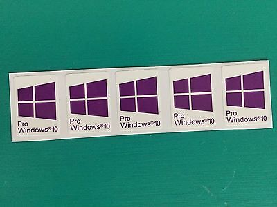 25x Windows 10 Pro | Purple | Sticker Badge Logo Decal Win 10 | USA Seller!