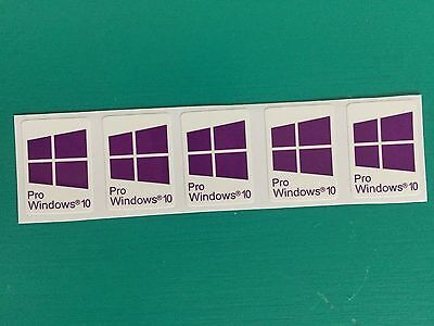 10x Windows 10 Pro | Purple | Sticker Badge Logo Decal Win 10 | USA Seller!
