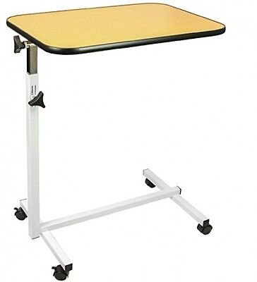 Medical Bed Tray Table Adjustable Serve Stand Cart Swivel Read Hospital Eating