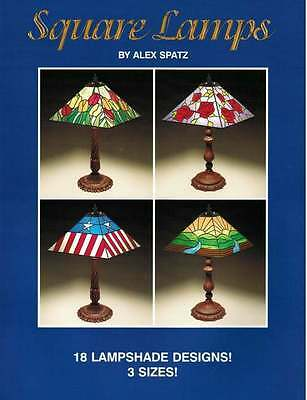 'Square Lamps' Stained Glass Pattern Book - 18 Great Lampshade Patterns!