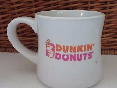 Dunkin Donuts Vintage Thick Rimmed Restaurant Diner style White Coffee Tea Mug