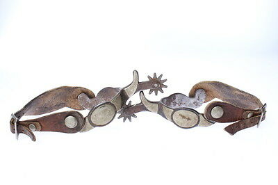 Vintage Spurs Silver Decorated 10 Point Rowels