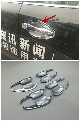 Chrome Side Door Handle Bowl Cover Trim For 2016 2017 Nissan Altima New