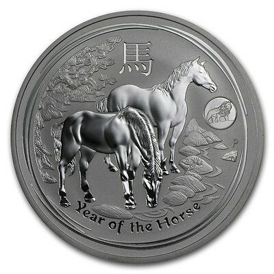 2014 Australia 1 oz Perth Silver Lunar Horse with Lion Privy (from mint roll)