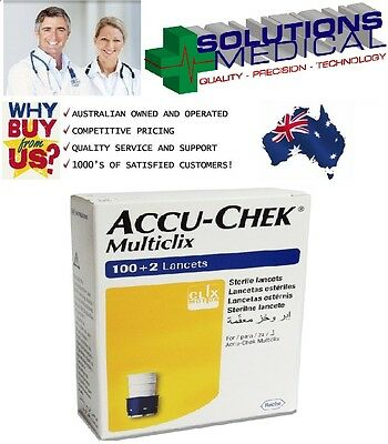 Accu-Chek Multiclix 100 + 2 Sterile Lancets Blood Glucose Testing
