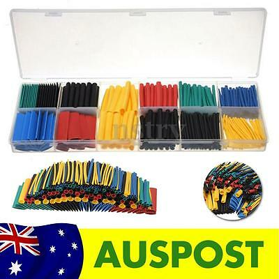 230Pcs Assortment Polyolefin 2:1 Heat Shrink Tubing Tube Sleeving Wrap Case Kit