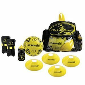 Kickmaster Backpack Training Set Includes Football, Training Cones + More! New