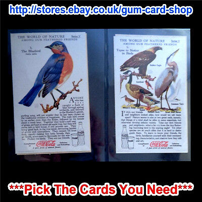 Coca Cola The World Of Nature 1930S Series V To Viii (Vg) *please Choose Card*