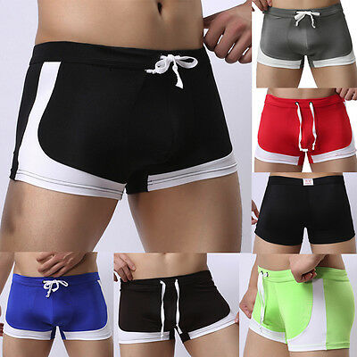 UK Mens Boxer Trunks Briefs Adults Swimming Swim Shorts Swimwear Pants Underwear
