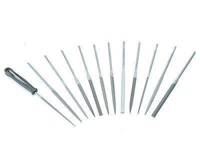 Bahco 472 Needle Set of 12 Cut 2 Smooth 2-472-16-2-0 160mm (6.2in)