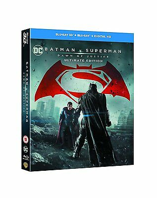 Batman vs Superman: Dawn of Justice (Ultimate Edition) [Blu-ray 3D] [2016] New