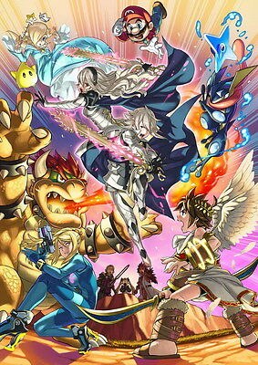 "2115 Hot Video Game - Super Smash Bros 14""x19"" Poster"