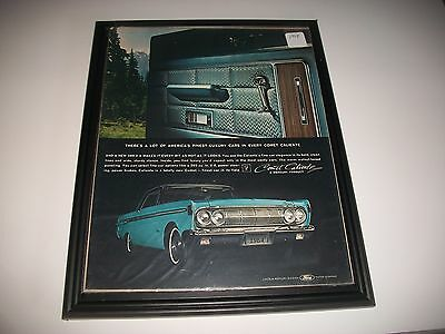 1964  Mercury Comet Caliente Original Vintage Print Ad Garage Art Collectible