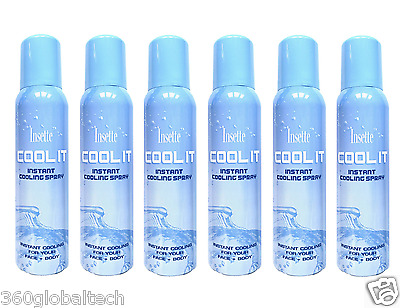 Insette Body & Face Cooling Mist Water Spray Beach Summer Travel Holiday 150ml