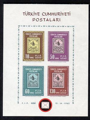 Turkey MNH 1963 International Philatelic Exhibition, Istanbul M/S