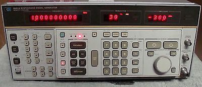 Hp - Agilent Keysight 8662A Synthesized Signal Generator W/man! Calibrated !