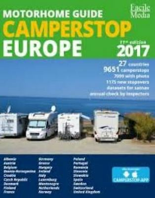 Motorhome Guide Camperstop Europe 2017 - Not a 2nd - Sent Royal Mail 24 Tracked