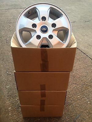 "4 X GENUINE 16"" Ford Transit Custom Limited Alloy Wheels Boxed"