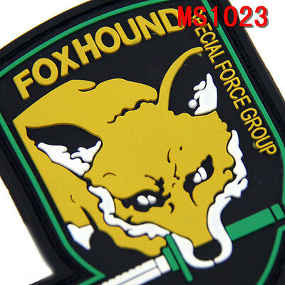 1PC Fox Hound Design Special Force Group PVC 3D Rubber Militaria Patches Hot
