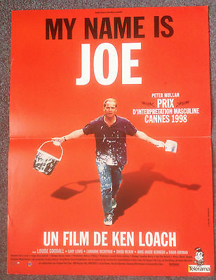 ORIGINAL FRENCH FILM POSTER MY NAME IS JOE Dir: Ken Loach
