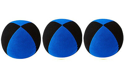 3 X  Henrys Jonglierball Bean Bag Superior medium 67 mm SCHWARZ-BLAU