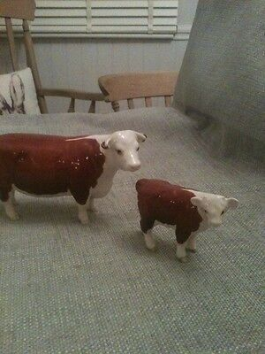 Beswick Hreford Cow And Calf