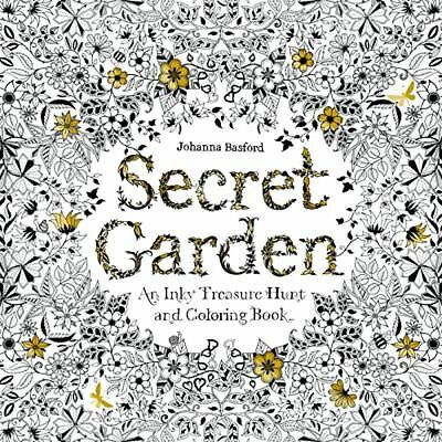 Secret Garden Adult Coloring Book An Inky Treasure Hunt 96 Pages