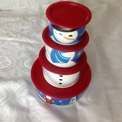 Tupperware christmas canisters set of 4