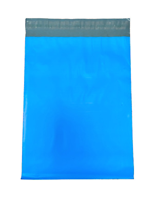 """100 10x13 Blue Color Designer Poly Mailer Shipping Self Seal Bags 10"""" x 13"""""""
