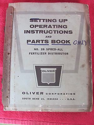 Oliver #28 Spred All Fertilizer Tractor & Equipment Parts Book Manual Catalog